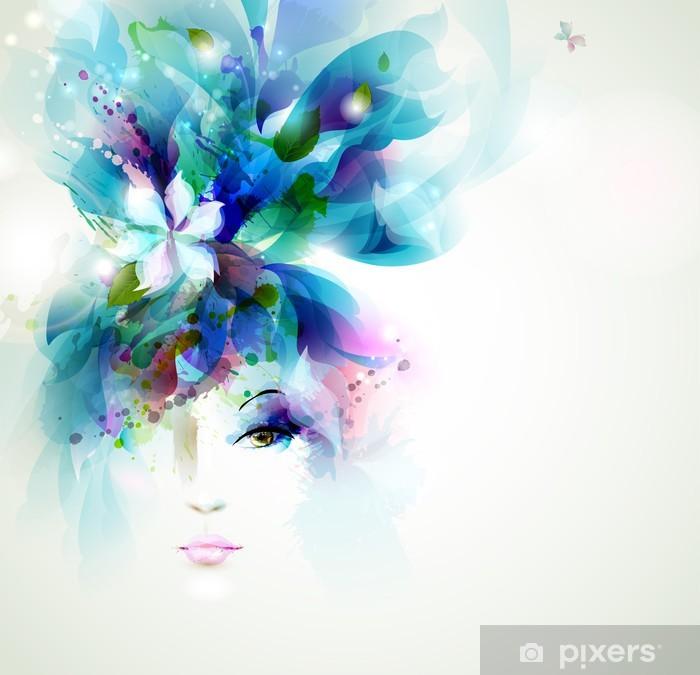 Poster Les belles femmes de la mode face à - Thèmes