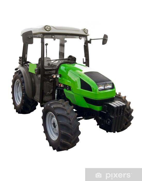 Pixerstick Aufkleber Kleine grüne Traktor - Wandtattoo
