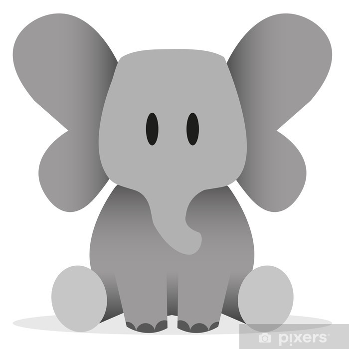 a vector cute cartoon baby elephant icon wall mural pixers we live to change a vector cute cartoon baby elephant icon wall mural pixers we live to change