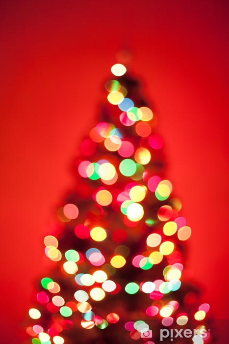 Fotobehang Kerstboom Verlichting Pixers We Leven Om Te Veranderen