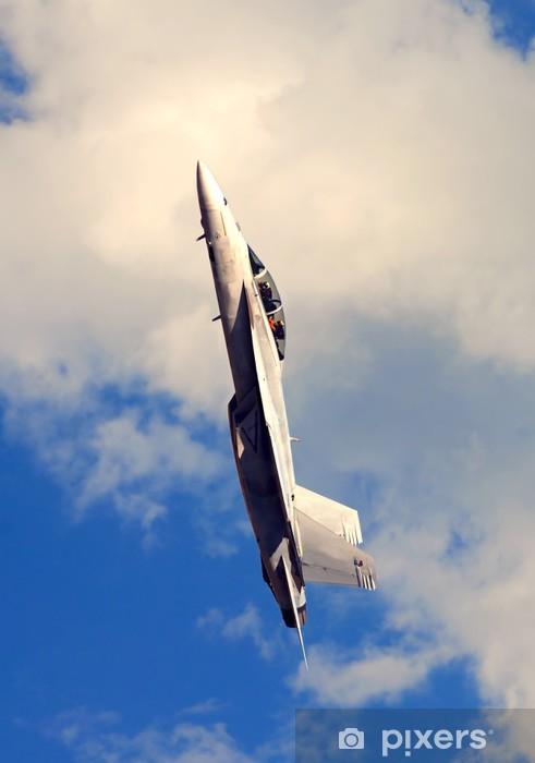 Nálepka Pixerstick Krásná Obrázek F-18 bude ve svislé modré obloze - Vzduch