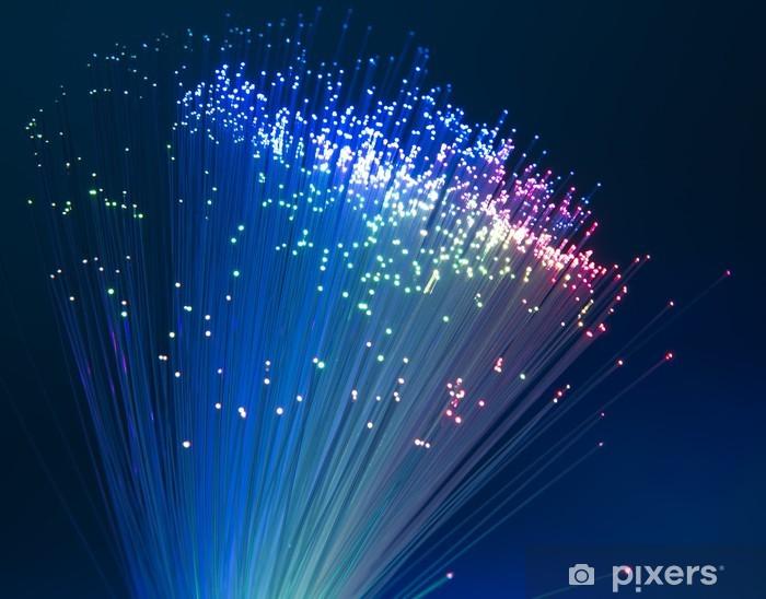Fotomural Estándar Cable de red de fibra óptica - Conceptos de negocios