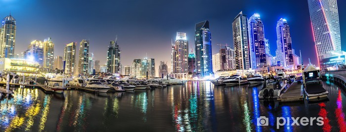 Dubai Marina cityscape, UAE Vinyl Wall Mural - Themes