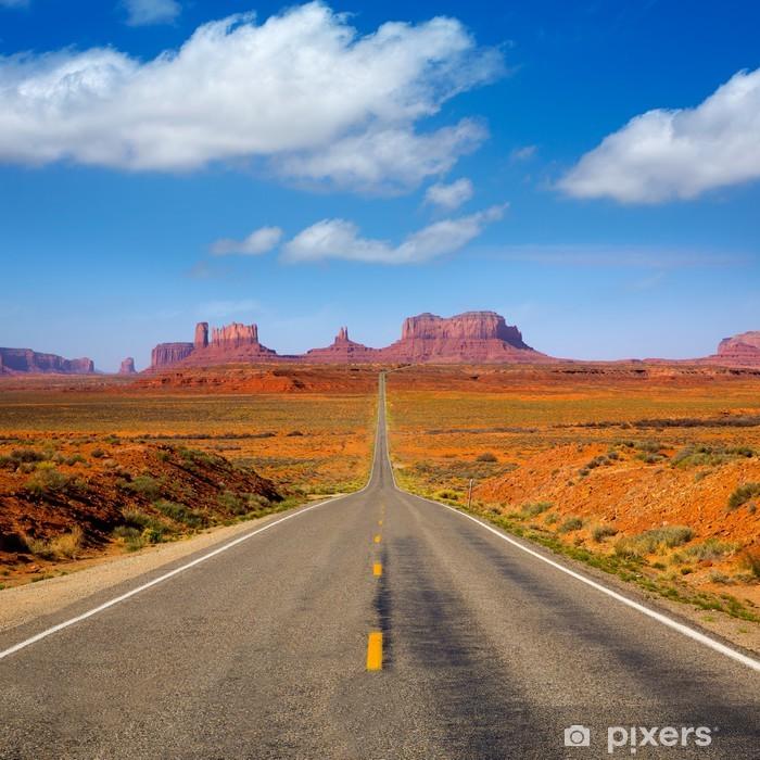 Pixerstick Sticker Uitzicht vanaf US 163 Scenic weg naar Monument Valley Utah - Thema's
