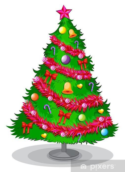Immagini Di Natale Colorate.Adesivo Un Albero Di Natale Colorato Pixerstick