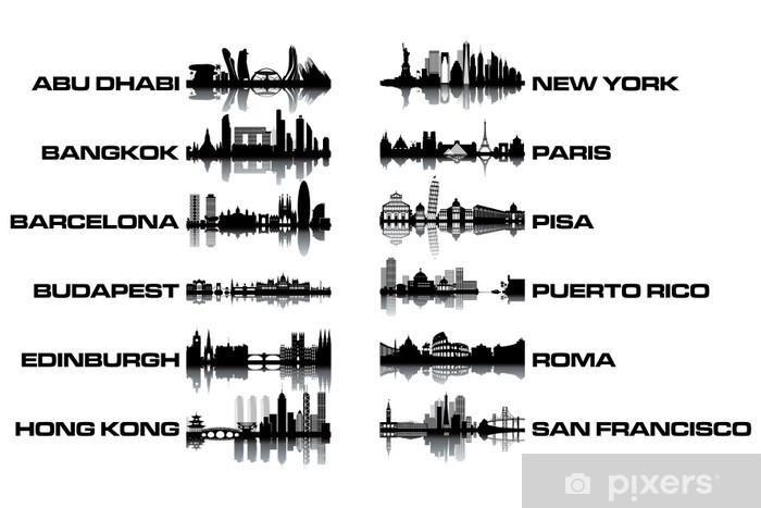 Skyline collection Pixerstick Sticker - Heavy Industry