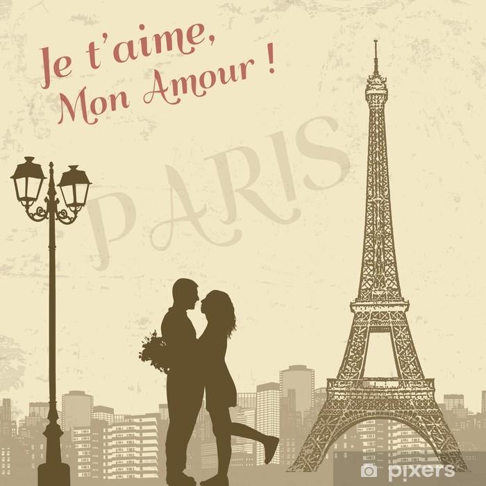 Lack-bord finér Retro Paris Plakat - Bakgrunner