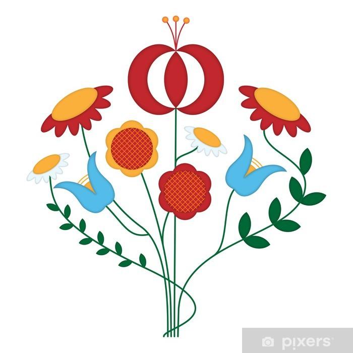 Sticker Pixerstick Ornement fleur - Fleurs
