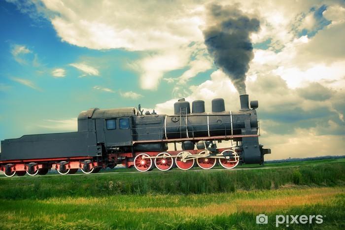 Papier peint vinyle Train à vapeur - Thèmes