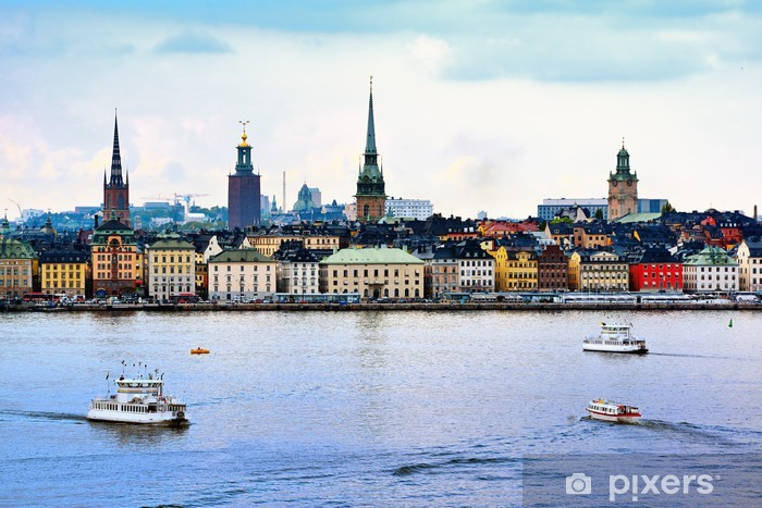 Stockholm Sweden Cityscape Washable Wall Mural - Europe