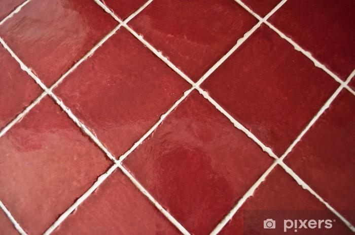 carrelage rouge de cuisine Sticker - Pixerstick