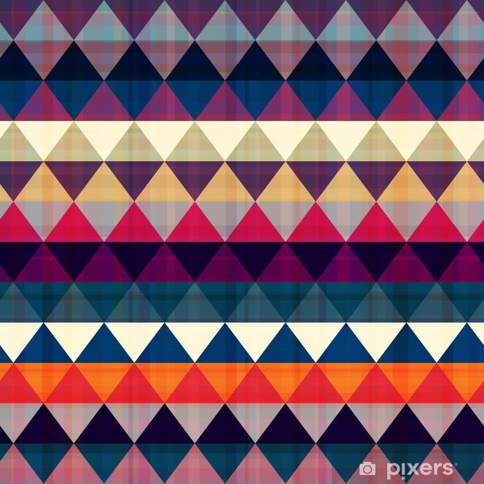 Naklejka Pixerstick Bezszwowe tło trójkąt - Tematy