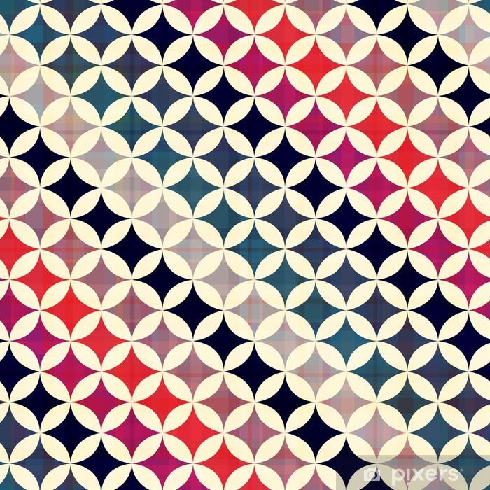 Pixerstick-klistremerke Sømløse sirkler bakgrunn tekstur - Styles