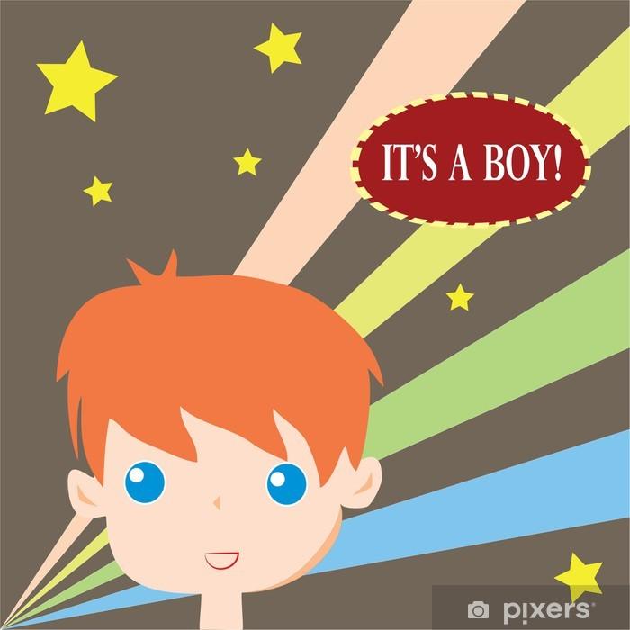 Poster C'est une carte de garçon -