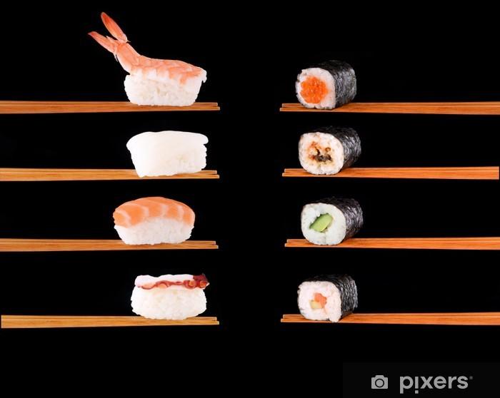 Papier peint vinyle La cuisine japonaise traditionnelle - Sushi
