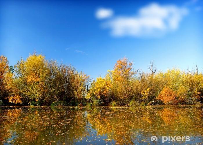 Sticker Pixerstick Paysage d automne - Saisons