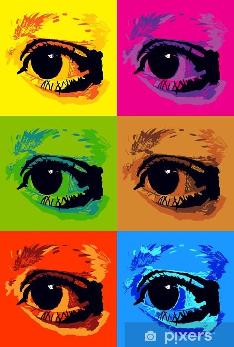 Fotomural Estándar Cartel del arte pop con los ojos - Estilos
