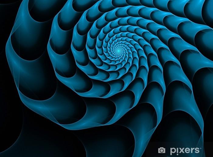 Papier peint vinyle Fractal fond avec la spirale bleu - Arrière plans