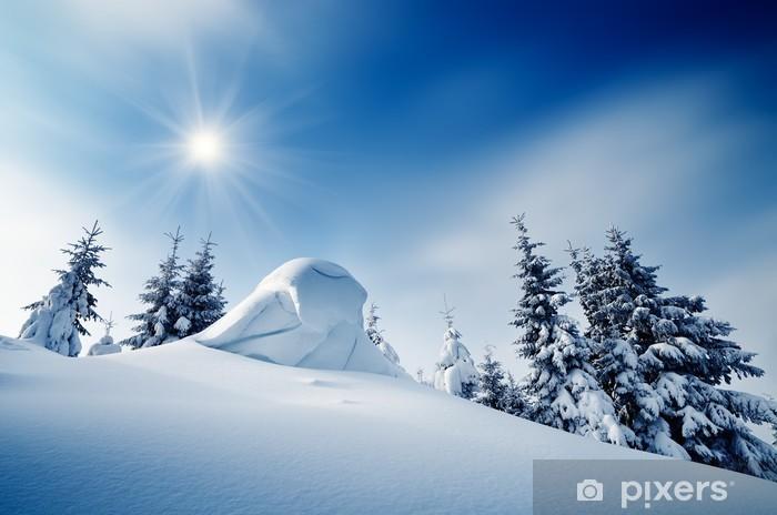 Fototapeta winylowa Zimowy krajobraz - Pory roku