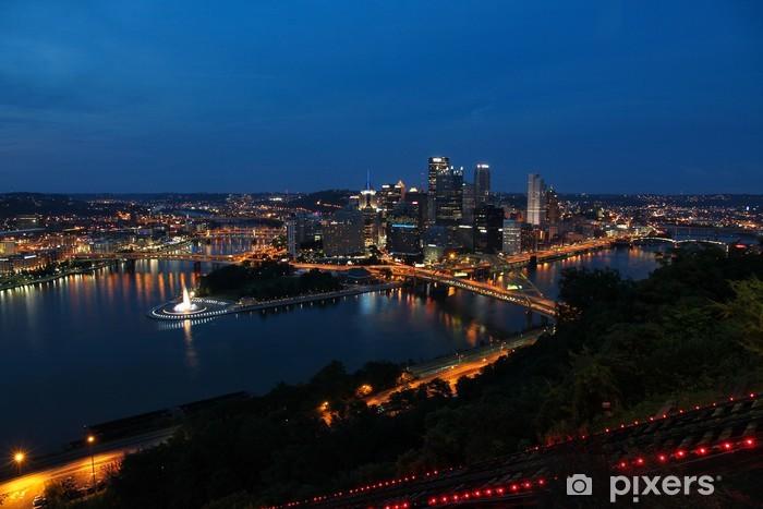 Carta da Parati in Vinile Pittsburgh, Pennsylvania, Stati Uniti d'America - Urbano