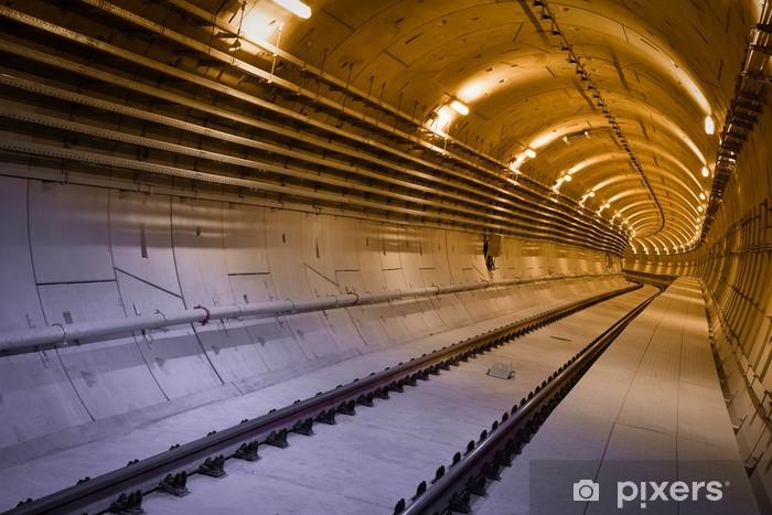 Fototapeta winylowa Tunel metra - Tematy