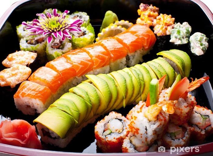 Papier peint vinyle Rouleaux de sushi - Sushi