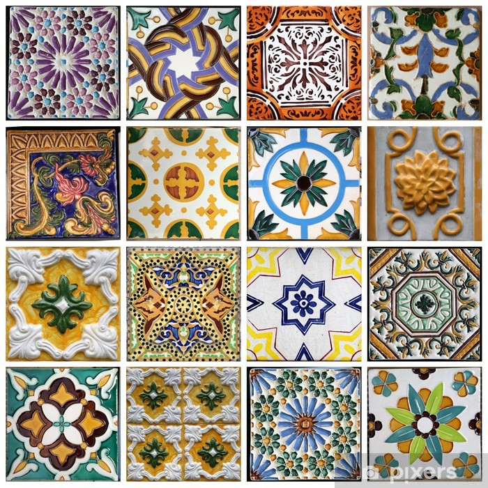 Pixerstick Sticker Traditionele tegels uit Porto, Portugal - Thema's