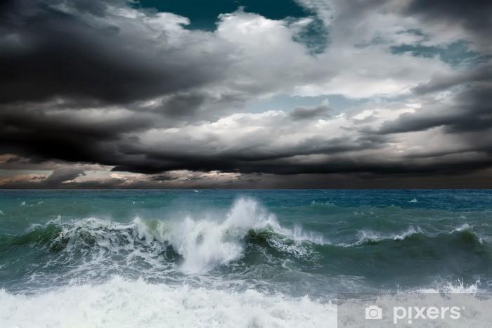 Vinilo Pixerstick Vista del paisaje marino tormenta - Temas