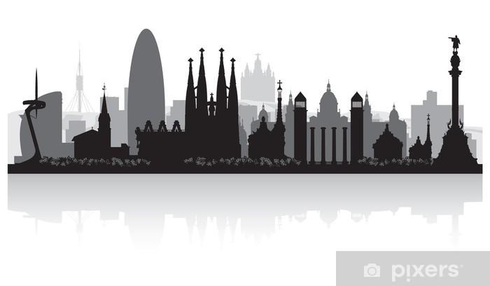 Fototapeta winylowa Barcelona Hiszpania sylwetka panoramę miasta - Style