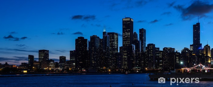 Chicago Skyline Vinyl Wall Mural Urban