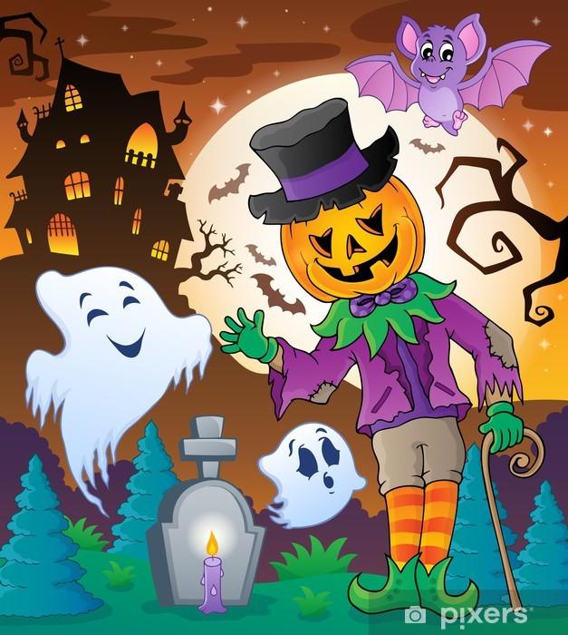 Nálepka Pixerstick Halloween charakter scéna 5 - Mezinárodní svátky