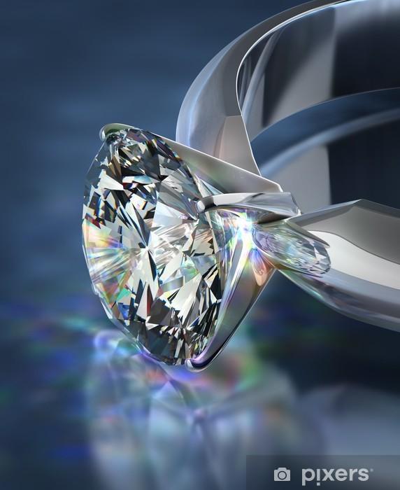Papier peint vinyle Bague en diamant -