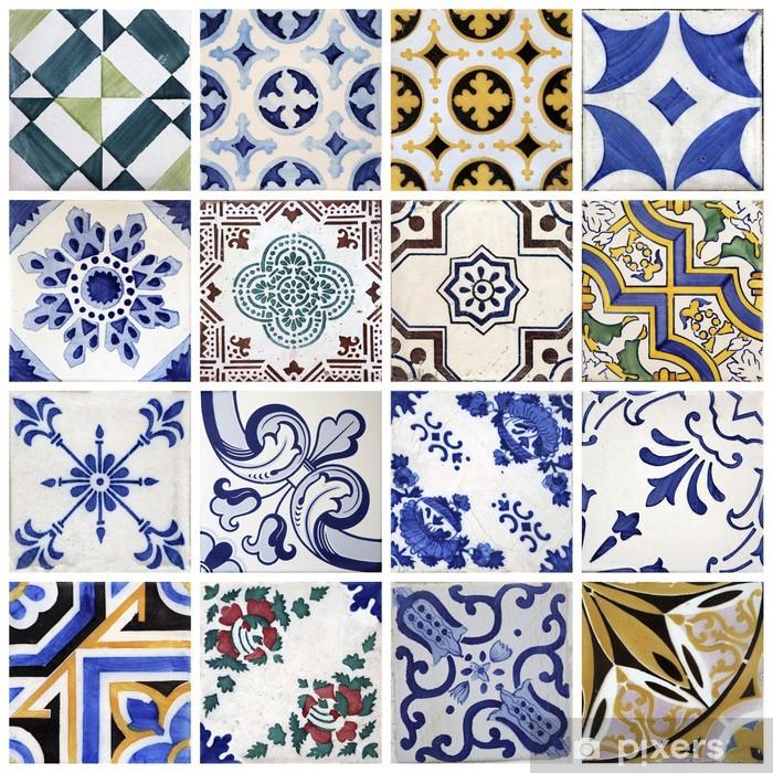 Naklejka Pixerstick Tradycyjne płytki z Porto, Portugalia - Tematy