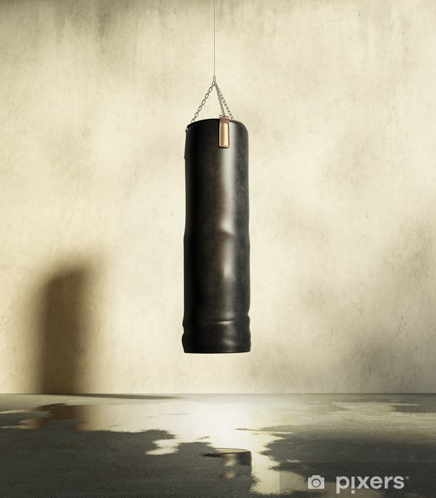 Grungy training room for boxing Self-Adhesive Wall Mural - Themes