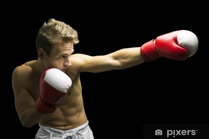 Boxer punching Pixerstick Sticker - Themes