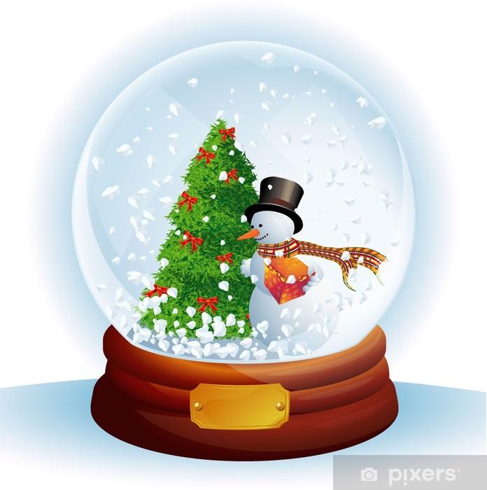 bcb9dedaa85214 Naklejka Kopuła Narodzenie śniegu. Wektor. • Pixers® - Żyjemy by ...