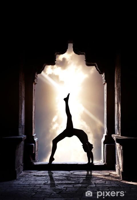 Yoga silhouette in temple Pixerstick Sticker - Yoga school