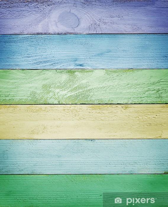 Fototapeta winylowa Światło kolorowe tekstury deski drewniane - Tematy