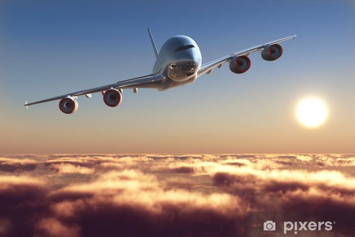 Papier peint vinyle Avion de passagers - Thèmes