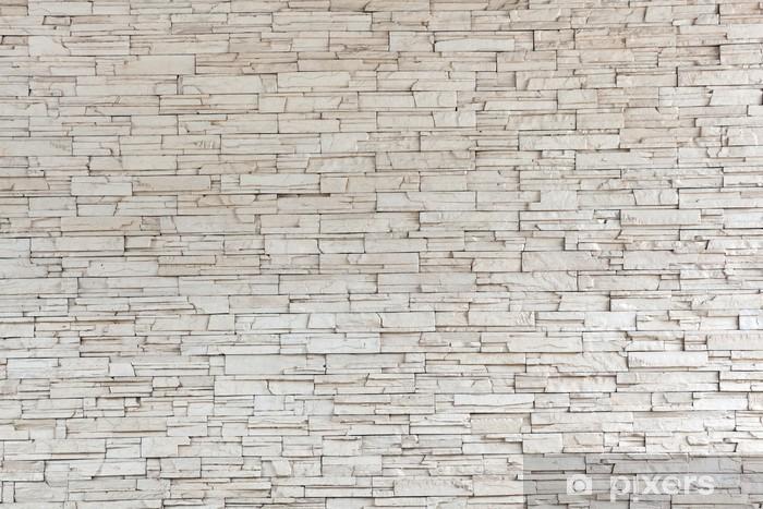 Naklejka Pixerstick Białe płytki kamienne ściany tekstury cegły - Style