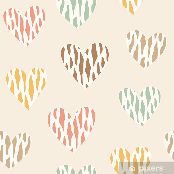 Sticker Pixerstick Seamless avec des coeurs sauvages - Bonheur