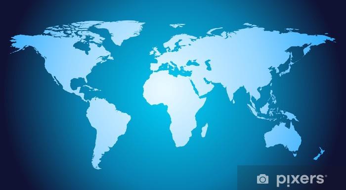Vinylová fototapeta Podrobné vektorový mapa světa - Vinylová fototapeta