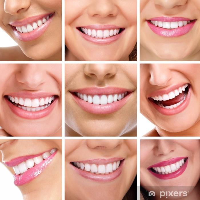 Vinyl Fotobehang Tanden collage van mensen glimlachen - Gezondheid en Geneeskunde