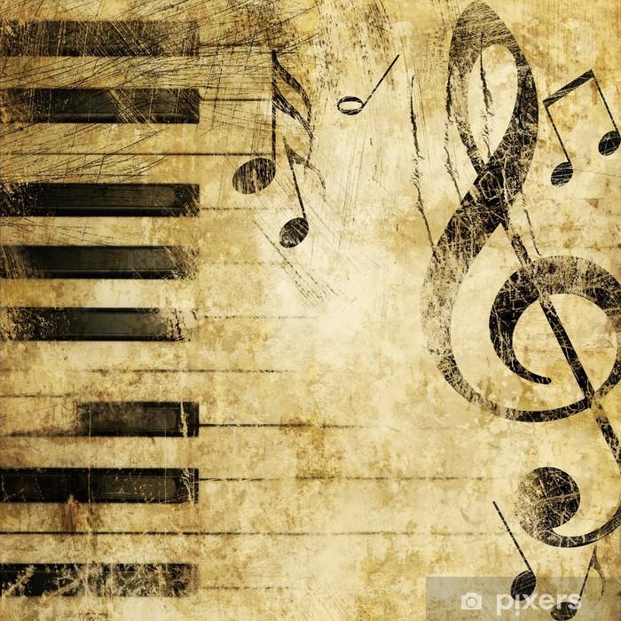 Musiikki grunge Pixerstick tarra -