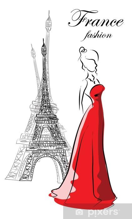 Vinilos De Moda.Vinilo Mujer De Moda En Francia Pixerstick