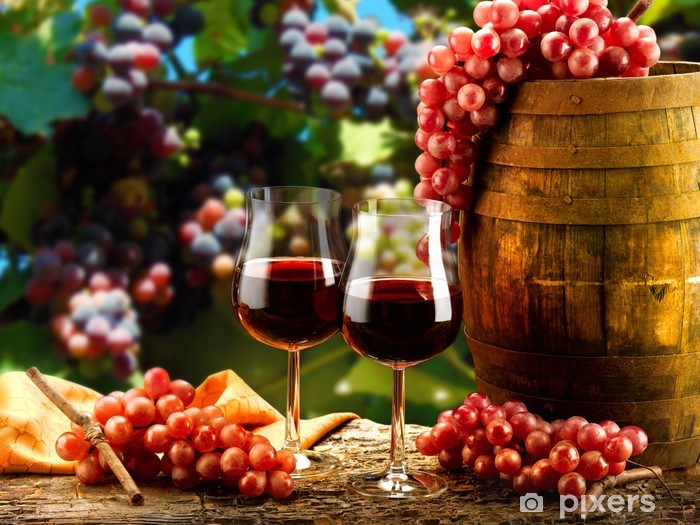 Sticker Pixerstick Bicchieri di vino -