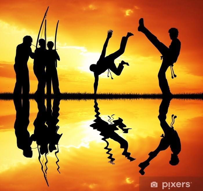 Fototapet av Vinyl Capoeira vid solnedgången - Teman