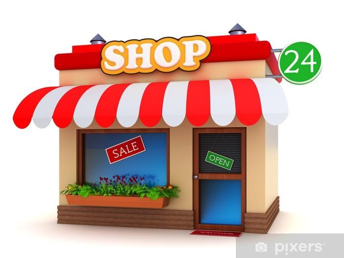 b704f42d7665 Fototapeta Shop stavba izolovaných na bílém • Pixers® • Žijeme pro změnu