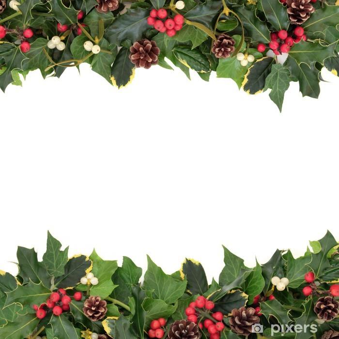 Vinilo Pixerstick Navidad floral de la frontera • Pixers® - Vivimos ...