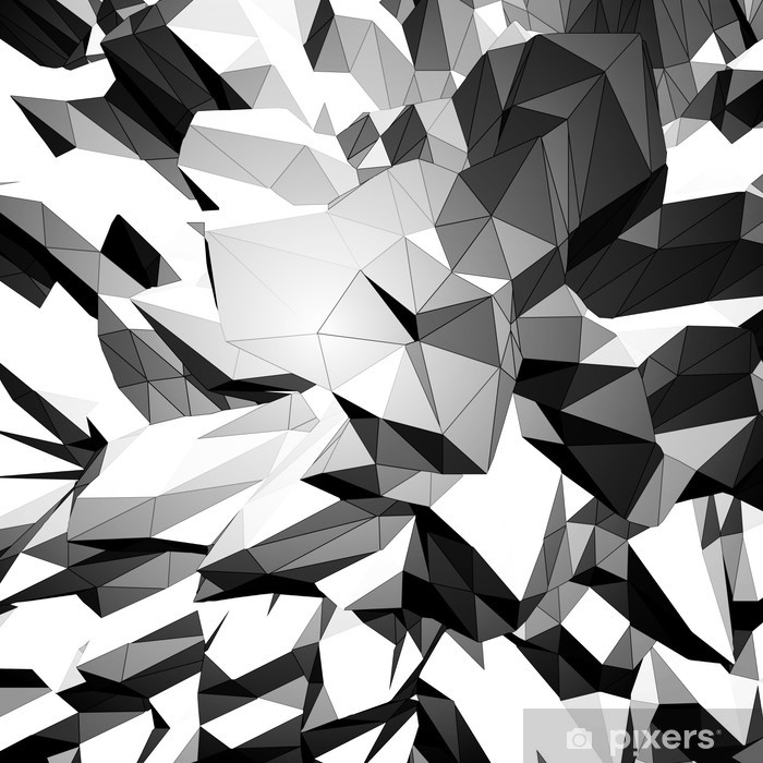 How To Create A Greyscale Bathroom: Grayscale Triangular Background Sticker • Pixers® • We